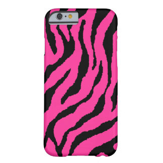 Corey Tiger 80s Neon Tiger Stripes (Pink / Black) Barely There iPhone 6 Case
