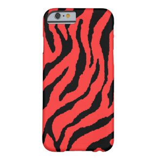 Corey Tiger 80s Neon Tiger Stripes (Red+Black) Barely There iPhone 6 Case
