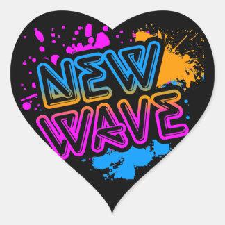 Corey Tiger 80s New Wave Neon Splatter Heart Sticker