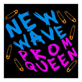 Corey Tiger 80s New Wave Prom Queen Poster