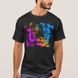 Corey Tiger 80's New Wave Tiger Face T-Shirt