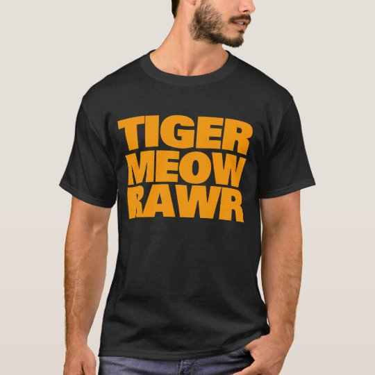 COREY TIGER 80's ORANGE TIGER MEOW RAWR T-Shirt