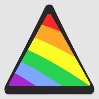 Corey Tiger 80s Rainbow Triangle Triangle Sticker