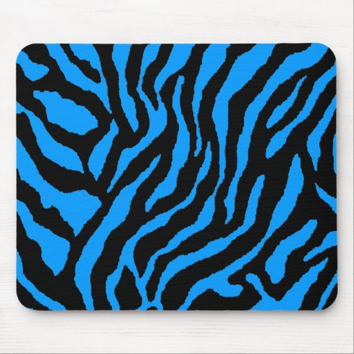 COREY TIGER 80's RETRO BLUE BLACK STRIPES Mouse Mat