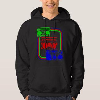 Corey Tiger 80s Retro Boombox Radio Hoodie
