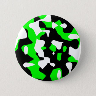 Corey Tiger 80s Retro Green Camouflage (Camo) Button