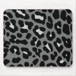 Corey Tiger 80s Retro Grey Leopard Print Mousepad