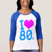 Corey Tiger 80s Retro I Love 80s Shirt
