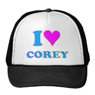 COREY TIGER 80's Retro I LOVE COREY Trucker Hat