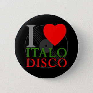 Corey Tiger 80s Retro I Love Italo Disco Pin