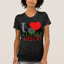 Corey Tiger 80s Retro I Love Italo Disco T-Shirt