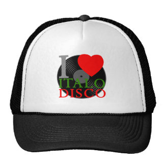 Corey Tiger 80s Retro I Love Italo Disco T-Shirt Mesh Hat