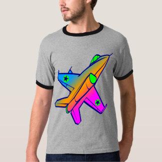 Corey Tiger 80s Retro Jet Fighter Plane T-Shirt