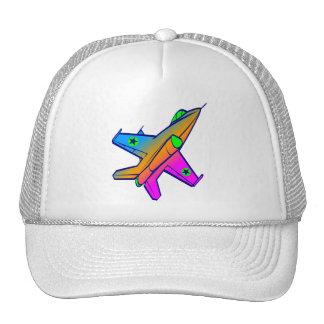 Corey Tiger 80s Retro Jet Fighter Plane Trucker Hat