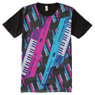 Corey Tiger 80s Retro Keytar Synthesizer All-Over-Print T-Shirt