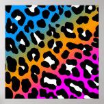 Corey Tiger 80s Retro Leopard Pattern Poster