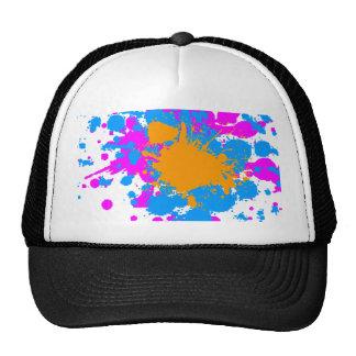 Corey Tiger 80s Retro Paint Splatter (Multicolor) Trucker Hat