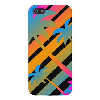 Corey Tiger 80s Retro Palm Trees Sunset Cover For iPhone SE/5/5s