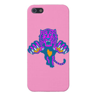 Corey Tiger 80s Retro Pouncing Tiger (Pink) Case For iPhone SE/5/5s