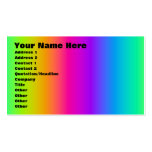 Corey Tiger 80s Retro Rainbow Blend Business Card Template