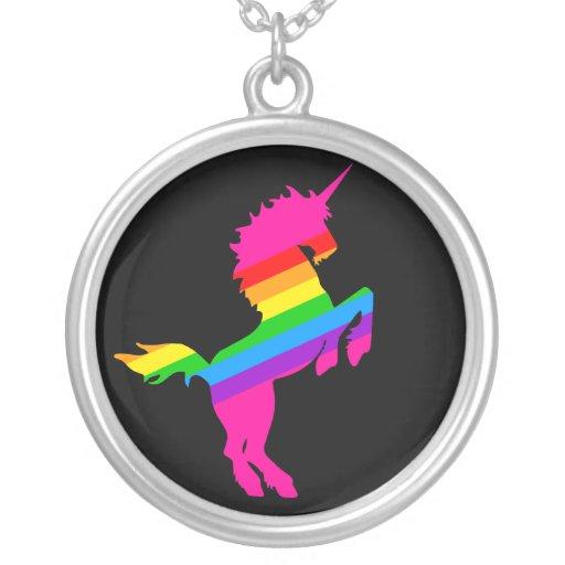 Corey Tiger 80s Retro Rainbow Unicorn Necklace