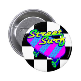 Corey Tiger 80s Retro Street Surf Skateboard Buttons