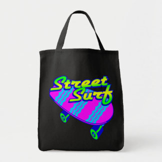 Corey Tiger 80s Retro Street Surf Skateboard Tote Bag