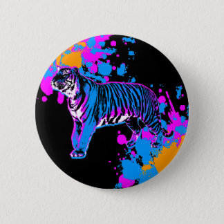 Corey Tiger 80s Retro Tiger Splatter Pin