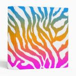 Corey Tiger 80s Retro Tiger-Stripe Colour on White Vinyl Binder