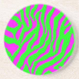 Corey Tiger 80s Retro Tiger Stripes Drink Coaster