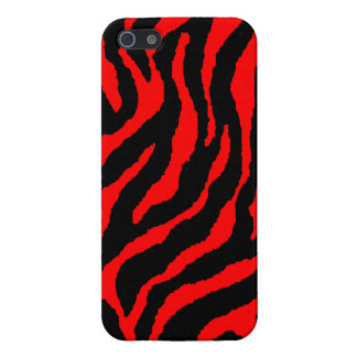 Corey Tiger 80s Retro Tiger Stripes (Red) Case For iPhone SE/5/5s