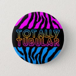 COREY TIGER 80s RETRO TOTALLY TUBULAR TIGER STRIPE Pinback Button
