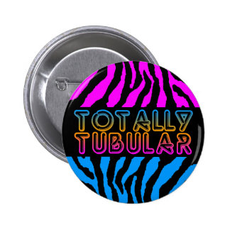 COREY TIGER 80s RETRO TOTALLY TUBULAR TIGER STRIPE Pinback Button