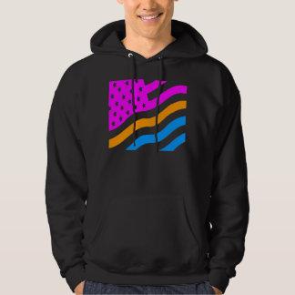 COREY TIGER '80s RETRO USA FLAG NEON Hoodie
