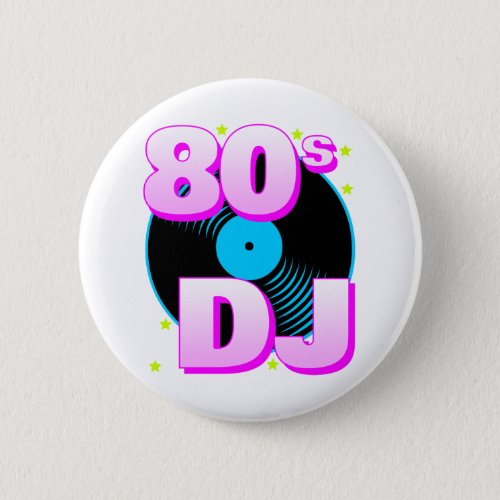 Corey Tiger 80s Retro Vintage 80s DJ Pin