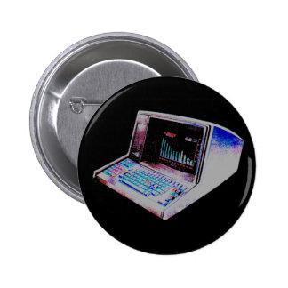 Corey Tiger 80S Retro Vintage Computer Pinback Button