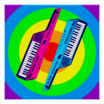 Corey Tiger 80s Retro Vintage Keytar Synth Poster