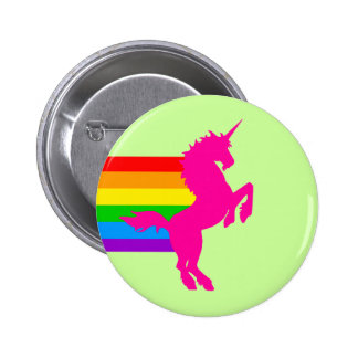 Corey Tiger 80S Retro Vintage Rainbow Unicorn Button