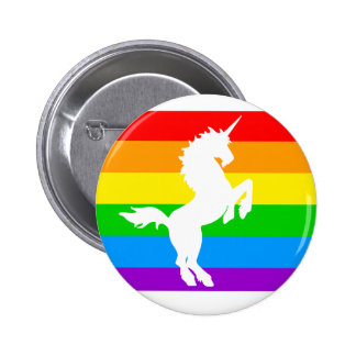COREY TIGER 80s RETRO VINTAGE RAINBOW UNICORN Pinback Button
