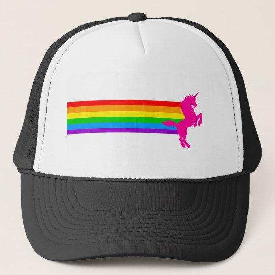572ec128 Corey Tiger 80s Retro Vintage Rainbow Unicorn Trucker Hat | Zazzle.com