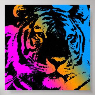 Corey Tiger 80s Retro Vintage Tiger Face Poster