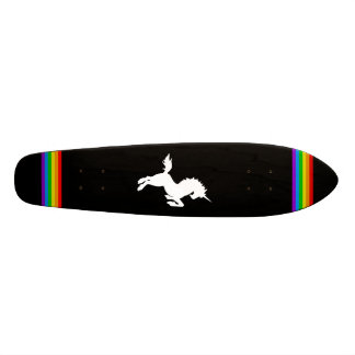 COREY TIGER 80s RETRO VINTAGE UNICORN RAINBOW BLAK Skateboard