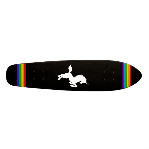 COREY TIGER 80s RETRO VINTAGE UNICORN RAINBOW BLAK Skate Decks