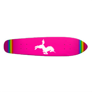 COREY TIGER 80s RETRO VINTAGE UNICORN RAINBOW PINK Skateboard