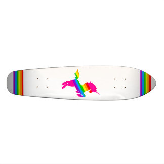 COREY TIGER 80s RETRO VINTAGE UNICORN RAINBOW WHTE Skateboard Deck