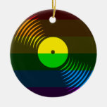 Corey Tiger 80s Retro Vinyl Record Ornament