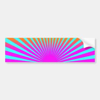 Corey Tiger 80s Rising Sun Stripes Bumper Sticker