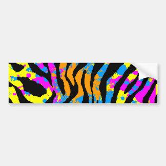 Corey Tiger 80s Splatter Paint Tiger Stripes Bumper Sticker