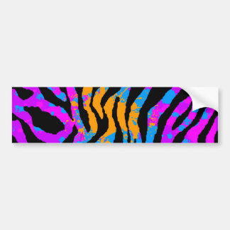 Corey Tiger 80s Splatter Paint Tiger Stripes Bumper Sticker