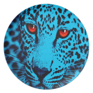 Corey Tiger 80s Style Leopard Face Dinner Plate